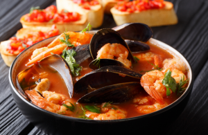 Make your Christmas dinner extra special with this Spanish style shellfish stew entrée