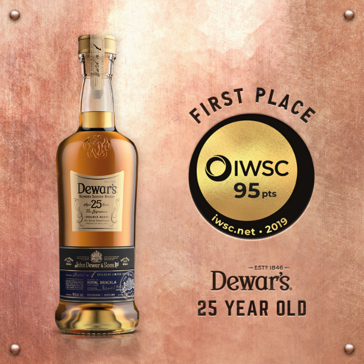 Dewar's received awards at World Spirits Competition 2019