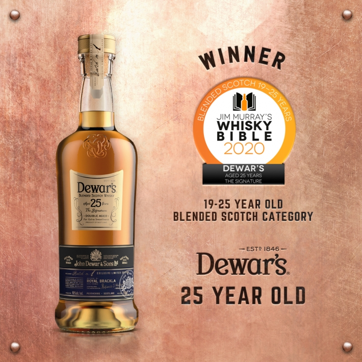 Jim Murray's Whisky Bible awards Dewar's